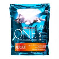 Корм Purina Оne Adult  для котів з куркою й рисом 800г х6