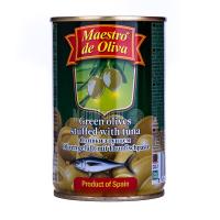 Оливки Маэстро дэ Олива зелені з тунцем 300г х12