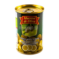 Оливки Маэстро дэ Олива зелені з лимоном 300г х12