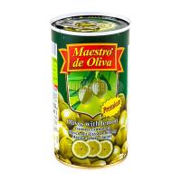 Оливки Маэстро дэ Олива зелені з лимоном 350г х12