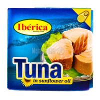 Тунець Iberica у рослин. олії 160мл х24
