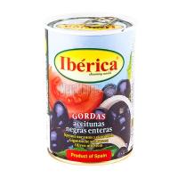 Оливки Iberica чорні величезні з/к 420г х12
