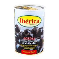 Оливки Iberica чорні величезні б/к 420г