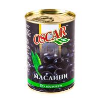 Оливки Oscar чорні б/к 425г х12