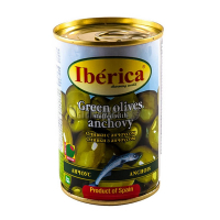 Оливки Iberica зелені з анчоусами 300г х24