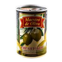 Оливки Маэстро дэ Олива зелені гігантські б/к 420г х12