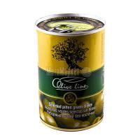 Оливки Olive line зелені відбірні б/к 420г