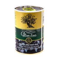 Оливки Olive line чорні відбірні б/к 420г