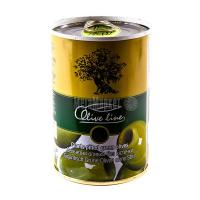 Оливки Olive line зелені величезні б/к ж/б 420г