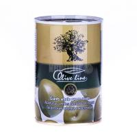 Оливки Olive line зелені величезні з/к 420г