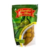 Оливки Maestro de Oliva з лимоном п/пак 170г