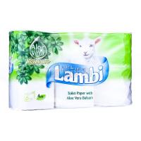 Туалетний папір Lambi Balsam Aloe Vera Білий, 6 шт.