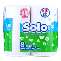 Туалетний папір Solo Білий, 8 шт.
