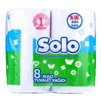Туалетний папір Solo білий 8штх6