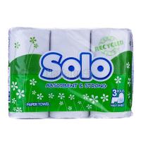 Рушник паперовий Solo Absorbent & Strong, 3 шт.