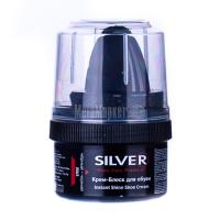 Крем для взуття Silver блиск black з воском 50мл х6