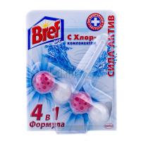 Туалетний блок Bref Сила-Актив 4в1 з Хлор-компонентом, 51 г