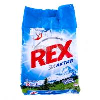 """Пральний порошок Rex 3х Актив """"Гірська свіжість"""" Автомат, 1,5 кг"""