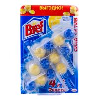 Засіб Bref чистячий для унітаза Лимонна свіжість 3*50г