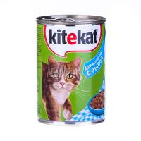 Корм Kitekat домашній обід з рибою ж/б 400гх6