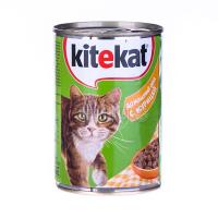 Корм Kitekat домашній обід з куркою ж/б 400гх6