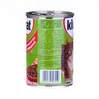 Корм Kitekat домашній обід з яловичиною ж/б 400гх6