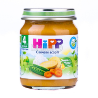 Пюре Hipp овочеве асорті 125г х6