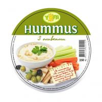 Закуска Yofi Hummus з нуту з оливками 250г