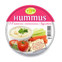 Закуска Yofi Hummus з нуту з в`яленими томатами та базиліком 250г