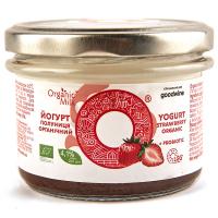 Йогурт Organic Milk Полуниця органічний 4,1% 200г