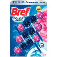 Засіб Bref Color Aktiv д/унітаза Квіткова свіжість 3*50г