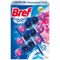 Засіб Bref д/унітазу Blue Activ Квіткова свіжість 3*50г