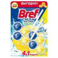 """Туалетний блок Bref Сила-Актив 4в1 """"Лимонна свіжість"""", 2 шт."""