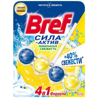 """Туалетний блок Bref Сила-Актив 4в1 """"Лимонна свіжість"""", 50 г"""