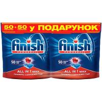 Таблетки для посудомийних машин Finish Super Charged 50 шт.+Shine & Protect 50 шт.