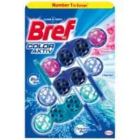 Засіб для унітазу Bref Color-Aktiv квіти/хлор/океан 3*50г