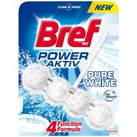 """Туалетний блок Bref Power Aktiv 4в1 """"Сяючий білий"""", 50 г"""