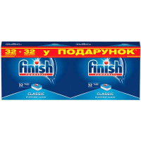 Таблетки для посудомийних машин Finish Classic, 32 шт.+32 шт.