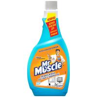 Рідкий засіб зі спиртом для скляних поверхонь Mr.Muscle запаска, 500 мл