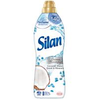 """Кондиціонер-ополіскувач безфосфатний для тканин Silan Aromatherapy """"Кокосова вода та мінерали"""", 800 мл"""