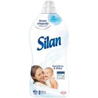 Кондиціонер-ополіскувач безфосфатний гіпоалергенний для дитячих речей Silan Sensitive & Baby, 1,8 л