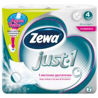 Папір Zewa туалетний без аромату 4шт