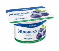 Йогурт Danone Живинка-Чорниця 1,2% 115г