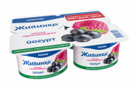 Йогурт Danone Живинка Малина-чорна смородина 1,5% 4*115г