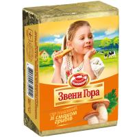 Сир плавлений Звенигора 45% зі смаком грибів 90г